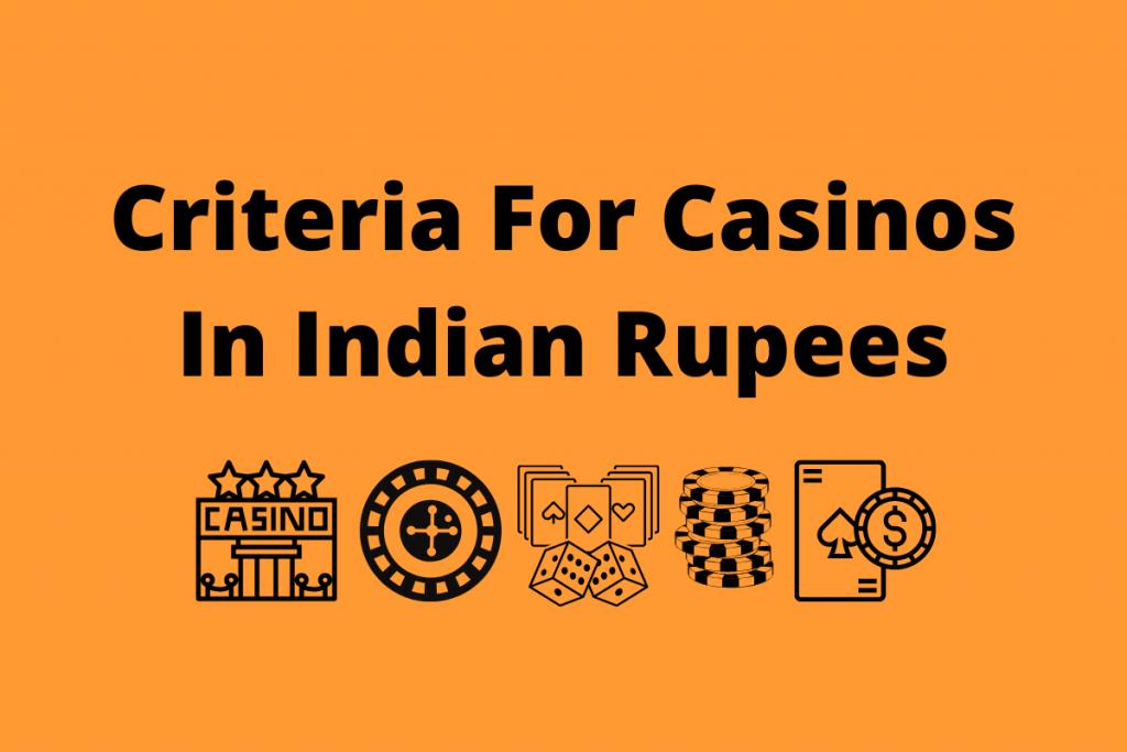 best online casino indian rupees